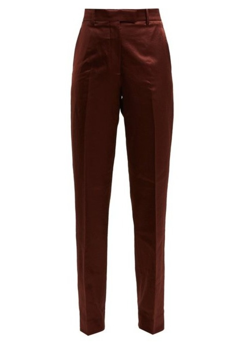 Calvin Klein Side-stripe straight-leg satin trousers