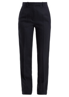CALVIN KLEIN 205W39NYC Side-stripe straight leg wool trousers