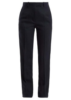 Calvin Klein Side-stripe straight leg wool trousers