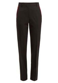 Calvin Klein Side-stripe stretch-wool trousers