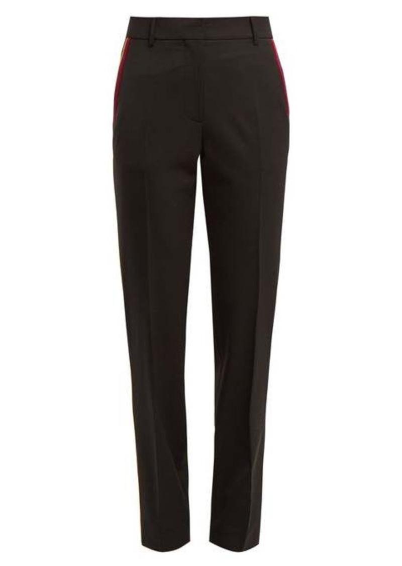 Calvin Klein Side-stripe stretch-wool trousers
