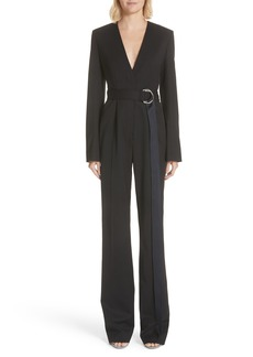 CALVIN KLEIN 205W39NYC Side Stripe Wool Blend Jumpsuit