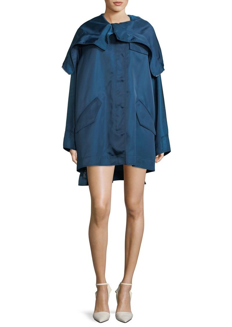 Calvin Klein Side-Zip Hood Zip Detail Taffeta Parka Jacket