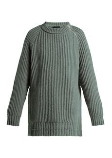CALVIN KLEIN 205W39NYC Side-zip oversized lambswool sweater