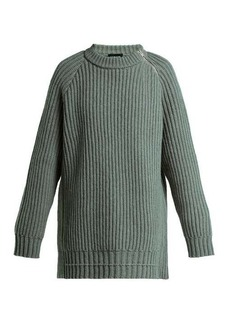 CALVIN KLEIN 205W39NYC Side-zip oversized lambswool sweater