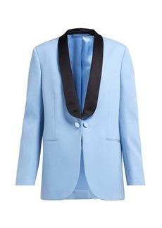 CALVIN KLEIN 205W39NYC Silk-satin lapel wool tuxedo jacket