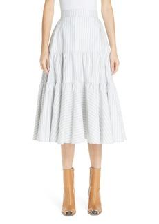 CALVIN KLEIN 205W39NYC Silk Tiered Prairie Skirt