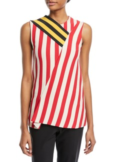 CALVIN KLEIN 205W39NYC Sleeveless Mixed-Striped Top