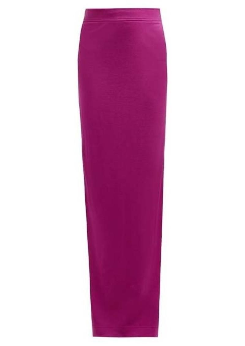 Calvin Klein Slit-hem wool-jersey maxi skirt