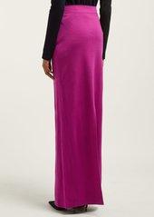 CALVIN KLEIN 205W39NYC Slit-hem wool-jersey maxi skirt