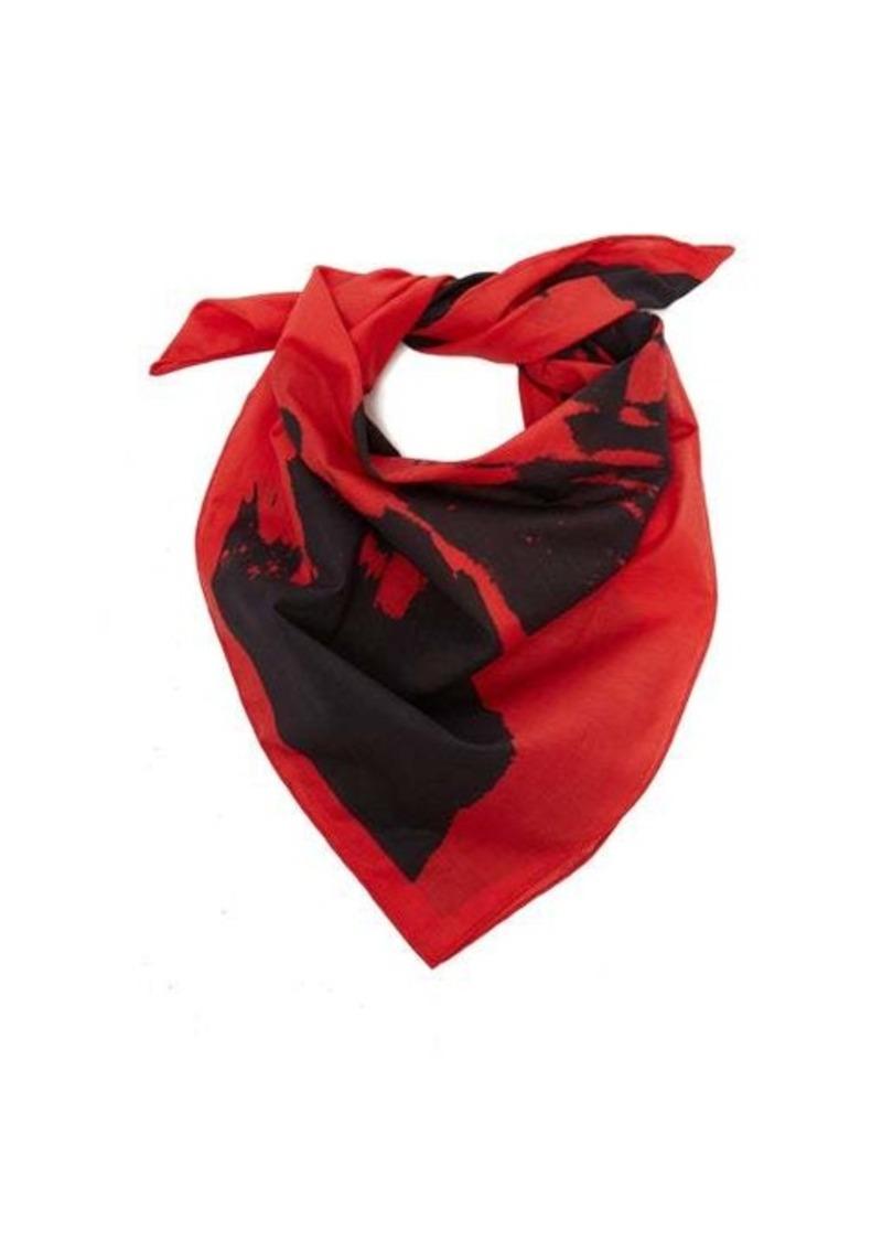 Calvin Klein Stephen Sprouse-print cotton bandana scarf