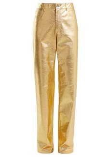 Calvin Klein Straight-leg leather trousers