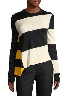 Striped Asymmetrical Knit Top