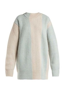 Calvin Klein Striped mohair-blend sweater