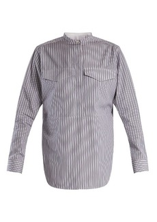 CALVIN KLEIN 205W39NYC Striped stand-collar cotton shirt