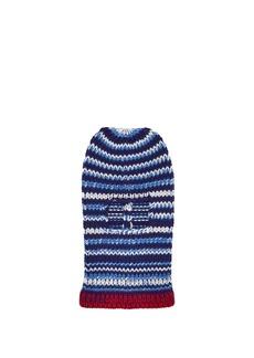 CALVIN KLEIN 205W39NYC Striped wool-knit balaclava hat