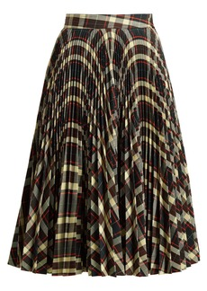 CALVIN KLEIN 205W39NYC Tartan pleated midi skirt