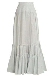 CALVIN KLEIN 205W39NYC Tiered long silk skirt