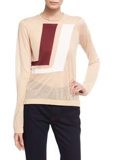 Calvin Klein Two-Tone Graphic Sweater