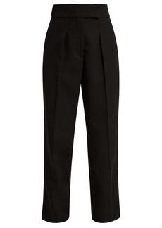 CALVIN KLEIN 205W39NYC Uniform velvet-trim wool trousers