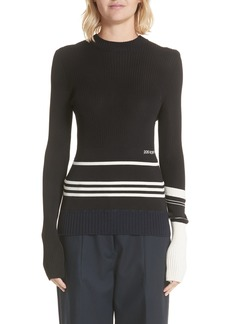 CALVIN KLEIN 205W39NYC Varsity Stripe Colorblock Sweater