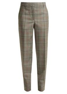CALVIN KLEIN 205W39NYC Wall Street Prince of Wales-checked wool trousers