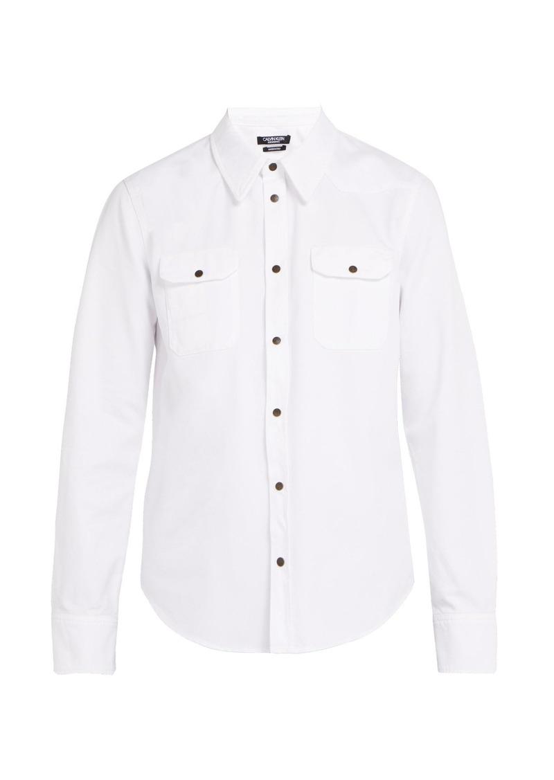 CALVIN KLEIN 205W39NYC Western cotton shirt