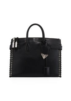 CALVIN KLEIN 205W39NYC Whipstitch Leather Tote Bag