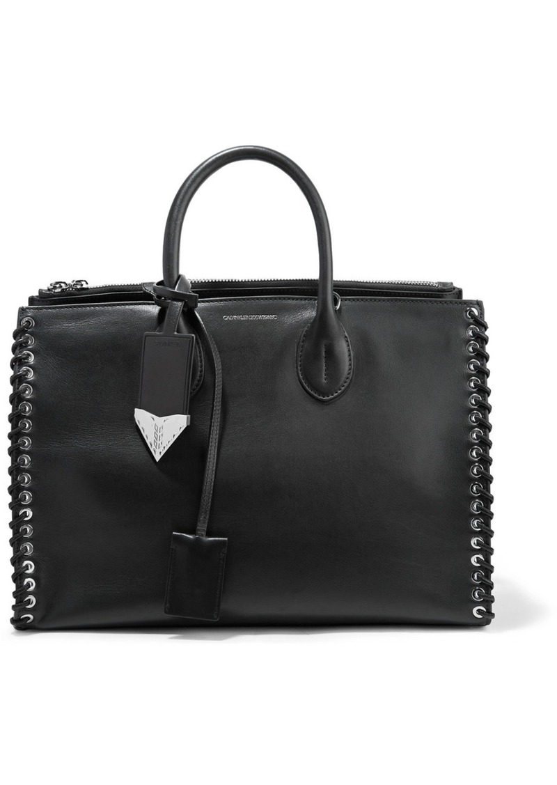 Calvin Klein Whipstitched leather tote