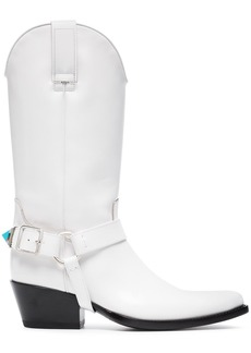 Calvin Klein White Tex Tammy 50 Leather Boots