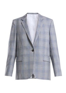 CALVIN KLEIN 205W39NYC Windowpane check wool blazer