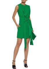 Calvin Klein 205w39nyc Woman Belted Ruffled Crepe Mini Dress Green