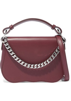 Calvin Klein 205w39nyc Woman Chain-trimmed Leather Shoulder Bag Claret