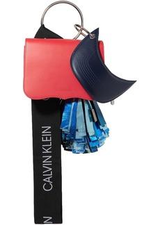 Calvin Klein 205w39nyc Woman Charm Leather Tote Papaya