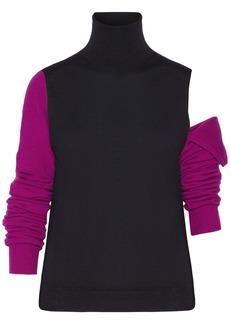 Calvin Klein 205w39nyc Woman Convertible Wool Turtleneck Sweater Black