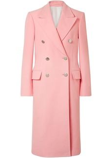 Calvin Klein 205w39nyc Woman Double-breasted Brushed Cotton-twill Coat Baby Pink