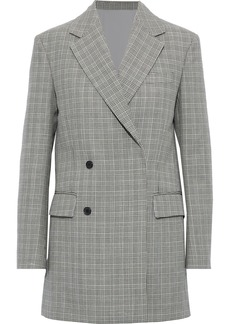 Calvin Klein 205w39nyc Woman Double-breasted Checked Wool Blazer Black