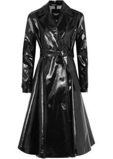 Calvin Klein 205w39nyc Woman Double-breasted Coated Cotton-blend Trench Coat Black