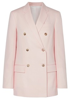 Calvin Klein 205w39nyc Woman Double-breasted Wool-twill Blazer Baby Pink