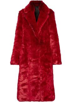 Calvin Klein 205w39nyc Woman Faux Fur Coat Crimson
