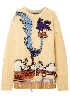 Calvin Klein 205w39nyc Woman Looney Tunes Intarsia Wool Sweater Pastel Yellow