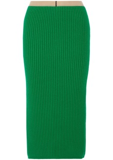 Calvin Klein 205w39nyc Woman Midi Skirt Green