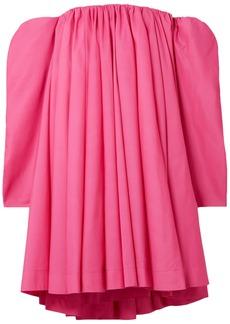 Calvin Klein 205w39nyc Woman Off-the-shoulder Gathered Shell Mini Dress Bubblegum