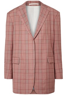 Calvin Klein 205w39nyc Woman Oversized Prince Of Wales Checked Wool Blazer Brick