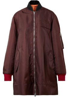 Calvin Klein 205w39nyc Woman Oversized Shell Bomber Jacket Burgundy
