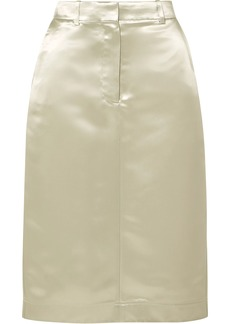 Calvin Klein 205w39nyc Woman Satin Midi Skirt Sage Green