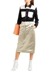 Calvin Klein 205w39nyc Woman Satin Midi Skirt Sage Green