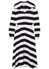 Calvin Klein 205w39nyc Woman Striped Stretch-crepe Midi Dress Black