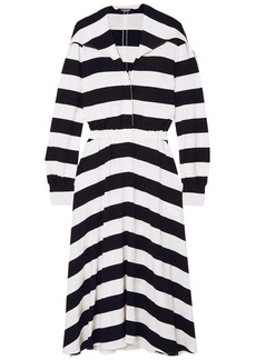 Calvin Klein 205w39nyc Woman Striped Stretch-crepe Midi Dress Black