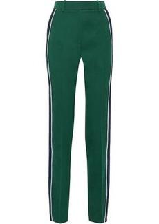 Calvin Klein 205w39nyc Woman Striped Wool-twill Slim-leg Pants Emerald